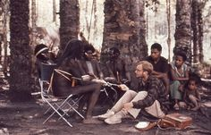 Michael Rockefeller with members of the Dani tribe. He disappeared in 1961. I don't know, maybe not so much of a mystery after all.