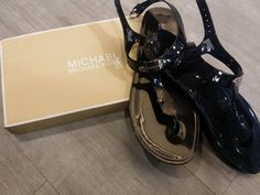 Sunny days are heading our way! Gear up for summer with all the hottest accessories for less at #PlatosClosetBrampton! #beachbum #summersandals #MichaelKors //#MK sandals, 8, $18//