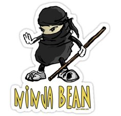 Ninja Bean by InvisibleSmith via redbubble: Uber Stealth. #Illustration