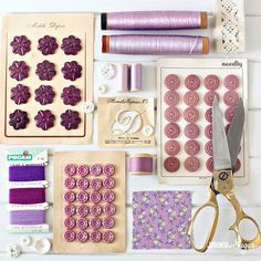 Inspired by the Pantone Colour of the Year ultra violet I sorted through my vintage haberdashery supplies I am not usually drawn to purple but I am going to incorporate more of it into my projects this year sewinggoals ultraviolet pantonecoloroftheyear vintagehaberdashery vintagebuttons buttonlove vintagecottonreels cottonreelcollection nodtonotions vintage purple