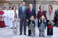 reali spagna   Letizia di Spagna, Pasqua in famiglia. Ma che spettacolo ...