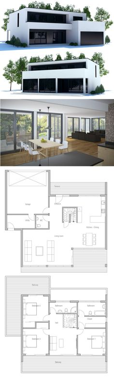 Container House - plan de maison Plus - Who Else Wants Simple Step-By-Step Plans To Design And Build A Container Home From Scratch? Contemporary House Plans, Modern House Plans, Small House Plans, Modern House Design, House Floor Plans, Building A Container Home, Container House Plans, Container Homes, Casas Containers