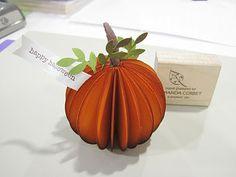 DIY: Pumpkin or Apple Tutorial using paper punches.