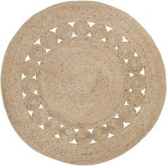 Beachcrest Home Summerland Handmade Flatweave Jute/Sisal Wheat Area Rug Rug Size: Round Natural Area Rugs, Natural Rug, Jute Rug, Woven Rug, Circle Rug, Thing 1, Round Area Rugs, Outdoor Rugs, Decoration