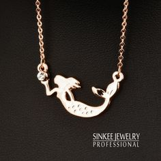 Find More Pendant Necklaces Information about Charm Zircon Mermaid Necklace for Women Choker Chain 18K Rose Gold Plated Brand Jewelry XL412,High Quality necklace earring ring sets,China necklace bottle Suppliers, Cheap necklace pearl from SINKEE JEWELRY Store on Aliexpress.com