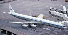klm royal dutch airlines douglas dc8 jet