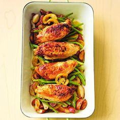 Learn how to make Pan-Roasted Chicken with Lemon-Garlic Green Beans. MyRecipes has 70,000+ tested recipes and videos to help you be a...