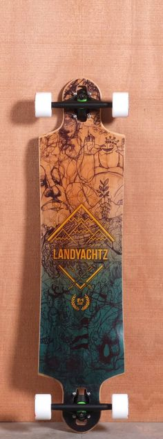 "THIS BOARD IS SO DOPE   Landyachtz 40"" Switchblade Longboard Complete"