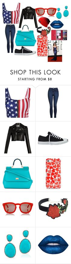 """birthday time"" by schroeder-tiana on Polyvore featuring Topshop, Yves Saint Laurent, Converse, Dolce&Gabbana, Kate Spade, Dsquared2 and WithChic"