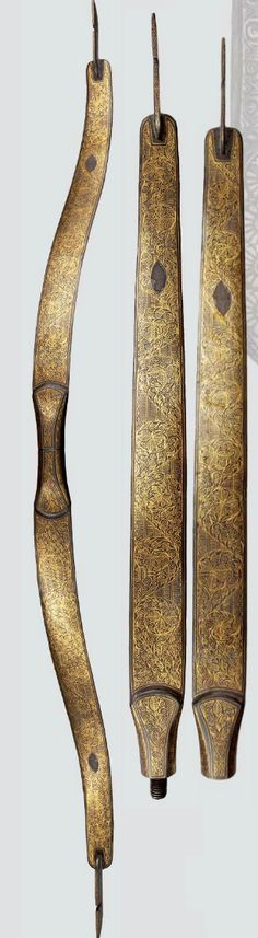 An Indo-Persian painted composite bow, 18th/19th century.