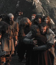 "the-doctors-consulting-timelady: ""bilbobruhggins: "" #i think the thing i love most with this scene is bifur in the background cheering his otp on lmao "" AND BOFUR ROLLING HIS EYES """