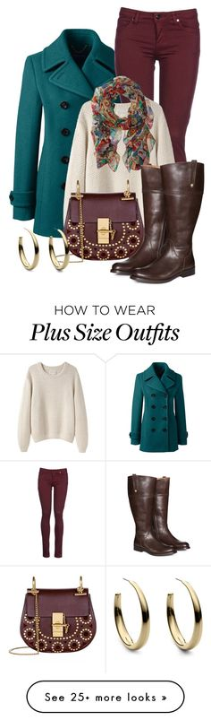 """Fall Outfit"" by kimberlyn303 on Polyvore featuring Lands' End, 8, La Garçonne Moderne, Chloé, Michael Kors, Lauren Ralph Lauren and Jilsen Quality Boots"