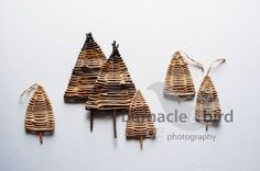 Willow Christmas trees - learn how to make your own christmas trees and much more at a Christmas Craft Workshop run by www.wayswithwillow.co.uk