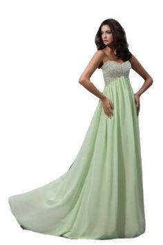 Winey Bridal Mint Green Chiffon Shiny Beaded Sequines Sweatheart Long Prom Dresses Bling Evening Gowns:$168.99 + $ 16.00 shipping