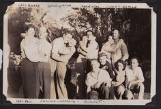 Belle,& Larry, Lee & Harry, Marie & Sal, Fern & Harold, Ida & Phil, Pauline & Husband Fairfax BBQ, 1944
