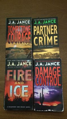 LOT OF 4 J. A. JANCE PAPERBACK THRILLERS FATAL ERROR LEFT FOR DEAD PLUS
