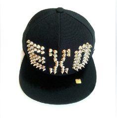 Kpop EXO M K  LUHAN  rivet Hat  Adjustable Snapback fitted cap