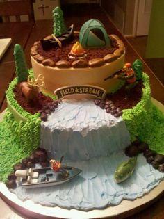 Beau gâteau d anniversaire pour homme gâteau d anniversaire original camping