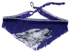 Beaded Wolf Fringe Necklace Choker Pattern & Kit. (Click on the picture to see this item on our website). $17.95
