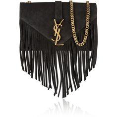 Saint Laurent Monogramme Small Suede Tassel Crossbody Bag ...