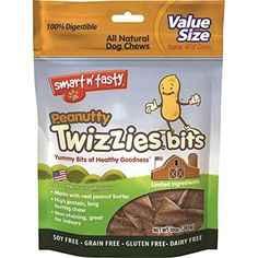 Emerald Pet Products Inc-Smart N Tasty Peanutty Twizzies Bits- Peanut 10 Ounce ~ You can see this great product. (This is an affiliate link and I receive a commission for the sales)