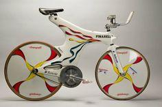 PINARELLO Vintage Bike - Bike of Indurain Miguel (ESP) Banesto, used for Hour Record 53.040km in Bordeaux on 2 September 1994, manufactured by Pinarello. Photo: Yuzuru Sunada