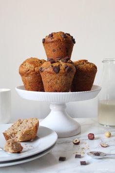 Vegan Food, Vegan Recipes, Banana Bread Muffins, Chocolate Recipes, Bananas, Afternoon Tea, Latte, Good Food, Brunch