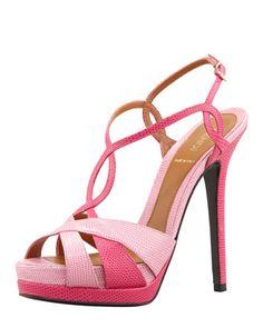 Monday, January 21st: Fendi Twisted T-Strap Two-Tone Sandal, Pink, 212 872 8940