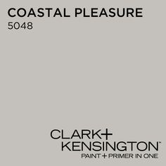 **Favorite Greige: Coastal Pleasure 5048 by Clark+Kensington (Ace Hardware) FYI:  Consumer Reports found Clark+Kensington paint to be tops in satin and semigloss finishes, and among the best for flat paints.  It was also impressive at hiding, leaving a smooth finish that resisted stains, and scrubbing. Its volatile organic compounds (VOCs) are low enough to meet the toughest, regional California standards.