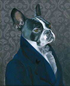 Portrait French Bulldog By Chiara Cappelletti