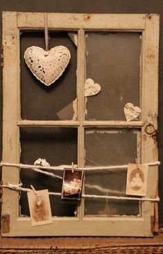Little Brags: Decorating With Old Windows