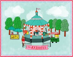 amusement park illustration | Pin it 1 Like Image