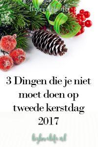 Lizlovelife | 3 Dingen die je niet moet doen op tweede kerstdag 2017 | http://lizlovelife.nl