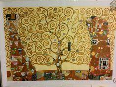 Riproduzione del quadro di Klimt L'Albero della vita
