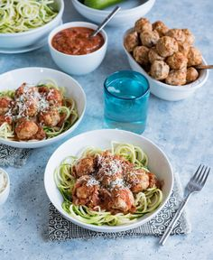 Zoodles and Meatball