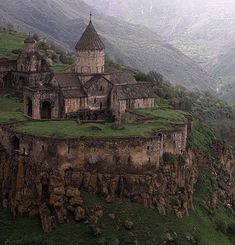 Monastery is situated near the village of the same name in part of Zangezur--ancient Syunik in Armenia. The monastery was founded in the ninth century in place of a tabernacle well-known in ancient times. ~ Old Moss Woman's Secret Garden Beautiful Castles, Beautiful Buildings, Beautiful Places, Places Around The World, The Places Youll Go, Places To Visit, Castle Ruins, Palaces, Ancient Architecture