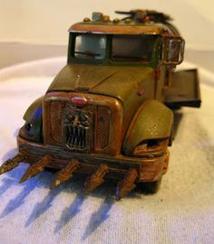 Chicago Skirmish Wargames: 28mm on the cheap: Post-apocalyptic vehicles, before and after