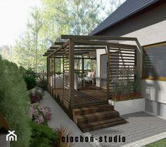 Backyard Plan, Backyard Patio Designs, Modern Backyard, Gazebo Pergola, Deck With Pergola, Pergola Plans, Small House Layout, Small Modern House Plans, Modern Pergola Designs