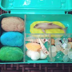 Invitation to play: dolphin beach playdough kit. Taking inspiration from…