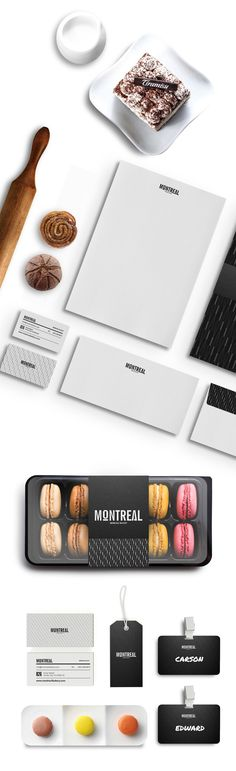 Montreal - Bread Shop by NERO , via Behance. Who wants son macaroons #identity #packaging #branding PD