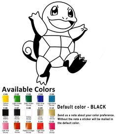 454706e74 Details about Squirtle Pokemon Vinyl Decal Sticker Car Window laptop Iphone  Pokémon Go Game