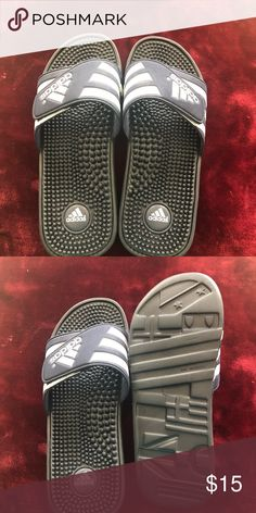 Shop Men's adidas Blue White size 9 Sandals & Flip-Flops at a discounted price at Poshmark. Adidas Slides, Blue Adidas, Adidas Men, Flip Flop Sandals, Navy And White, Fashion Design, Fashion Trends, Man Shop, Best Deals