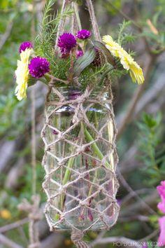 DIY Boho Macrame Hanging Jars