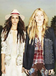 boho  fashion photography | Hind Sahli, Melissa Johannsen, in You Gotta Go Boho - Fashion ...