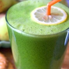 Green Lemonade by thetoddlercafe. as adapted from Natalia Rose, The Raw Food Detox Diet: Made with apple, lemon, Romaine lettuce, kale and ginger.