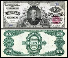 US 20 Dollar Note Series 1891 Serial# Signatures: Parker / burke Figures representing Agriculture and Industry Portrait: Daniel Manning Old Coins, Rare Coins, Dollar Usa, Passport Online, Money Notes, Silver Certificate, Rich Money, Show Me The Money, Old Paper