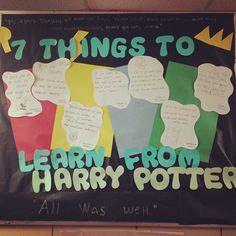 7 Things to Learn from Harry Potter Bulletin Board