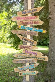 32 fun diy backyard games to play for kids adults pinterest beneath the rowan tree which way shall we go diy literary garden sign tutorial put on a post in the ground to have signs point solutioingenieria Choice Image
