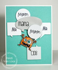 Card by PS DT Heidi Van Laar using the PS Word Bubbles dies as well as the Little Fella and Kinfolk stamp sets