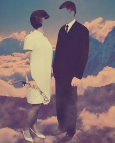 """""""Marriage  1/10 - Limited Edition,"""" pink and blue surrealist photograph by artist Cássio Markowski 